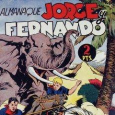 Tebeos: L- 4041.JORGE Y FERNANDO. ALMANAQUE 1945. ORIGINAL. HISPANO AMERICANA.. Lote 101991095