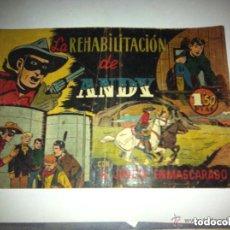 Tebeos: EL JINETE ENMASCARADO (LONE RANGER) - LA REHABILITACIÓN DE ANDY - (PEQUEÑA ROTURA EN CONTRAP.). Lote 102621407