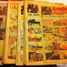 Tebeos: AVENTURERO - AÑOS 1935/37 - LOTE DE 112 EJEMPLARES - MUY BIEN CONSERVADOS. Lote 102669355