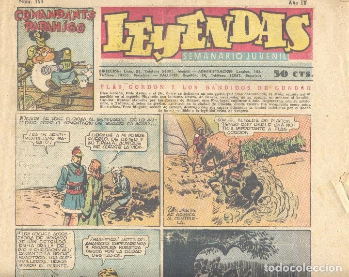 LEYENDAS Nº153. FLASH GORDON, TARZÁN, DICK NORTON, LA GUADIA MÓVIL, X-9, KING DE LA POLICÍA MONTADA. (Tebeos y Comics - Hispano Americana - Leyendas Infantiles)