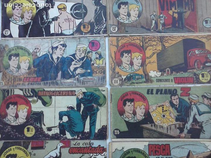 Tebeos: JORGE Y FERNANDO ORIGINAL 1949 - MUY BUEN ESTADO, 156 TEBEOS, VER IMAGENES - Foto 5 - 103987315
