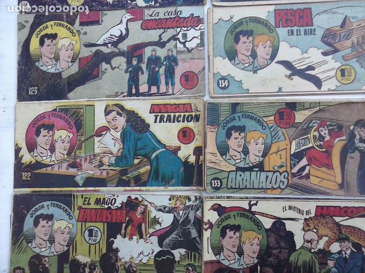 Tebeos: JORGE Y FERNANDO ORIGINAL 1949 - MUY BUEN ESTADO, 156 TEBEOS, VER IMAGENES - Foto 6 - 103987315