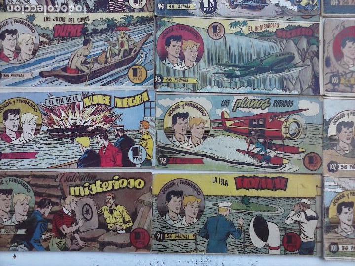 Tebeos: JORGE Y FERNANDO ORIGINAL 1949 - MUY BUEN ESTADO, 156 TEBEOS, VER IMAGENES - Foto 8 - 103987315