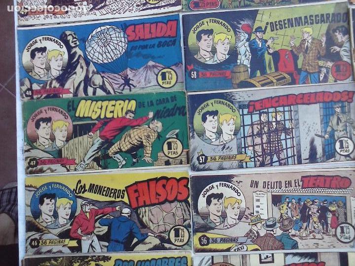 Tebeos: JORGE Y FERNANDO ORIGINAL 1949 - MUY BUEN ESTADO, 156 TEBEOS, VER IMAGENES - Foto 12 - 103987315