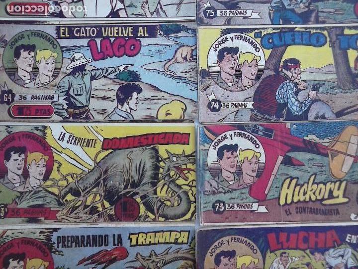 Tebeos: JORGE Y FERNANDO ORIGINAL 1949 - MUY BUEN ESTADO, 156 TEBEOS, VER IMAGENES - Foto 18 - 103987315