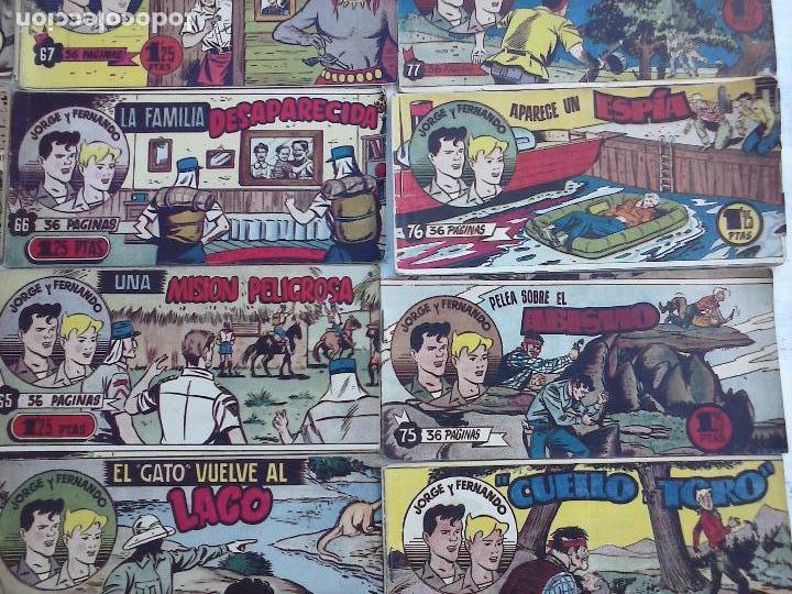 Tebeos: JORGE Y FERNANDO ORIGINAL 1949 - MUY BUEN ESTADO, 156 TEBEOS, VER IMAGENES - Foto 19 - 103987315