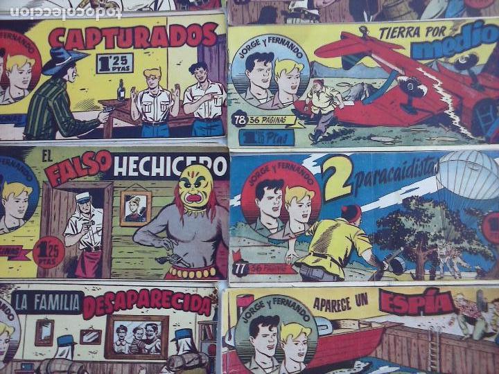 Tebeos: JORGE Y FERNANDO ORIGINAL 1949 - MUY BUEN ESTADO, 156 TEBEOS, VER IMAGENES - Foto 20 - 103987315
