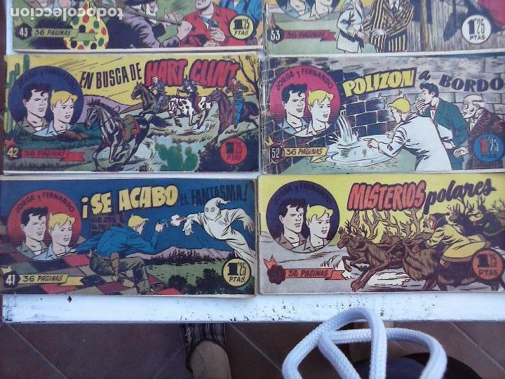 Tebeos: JORGE Y FERNANDO ORIGINAL 1949 - MUY BUEN ESTADO, 156 TEBEOS, VER IMAGENES - Foto 23 - 103987315