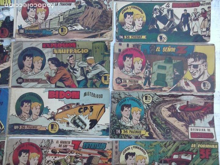 Tebeos: JORGE Y FERNANDO ORIGINAL 1949 - MUY BUEN ESTADO, 156 TEBEOS, VER IMAGENES - Foto 24 - 103987315