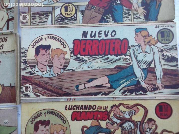 Tebeos: JORGE Y FERNANDO ORIGINAL 1949 - MUY BUEN ESTADO, 156 TEBEOS, VER IMAGENES - Foto 28 - 103987315