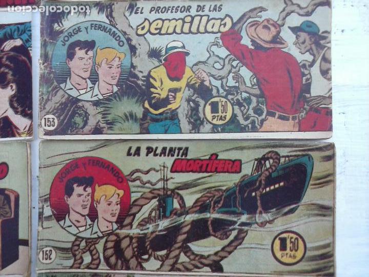 Tebeos: JORGE Y FERNANDO ORIGINAL 1949 - MUY BUEN ESTADO, 156 TEBEOS, VER IMAGENES - Foto 29 - 103987315