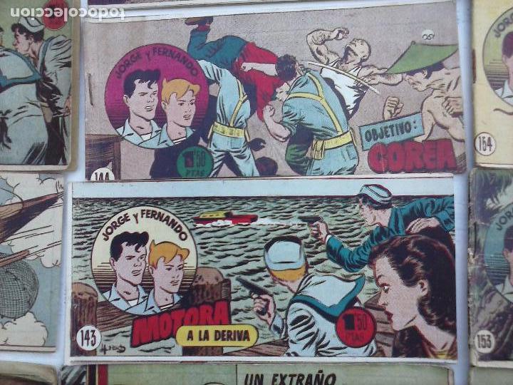 Tebeos: JORGE Y FERNANDO ORIGINAL 1949 - MUY BUEN ESTADO, 156 TEBEOS, VER IMAGENES - Foto 30 - 103987315