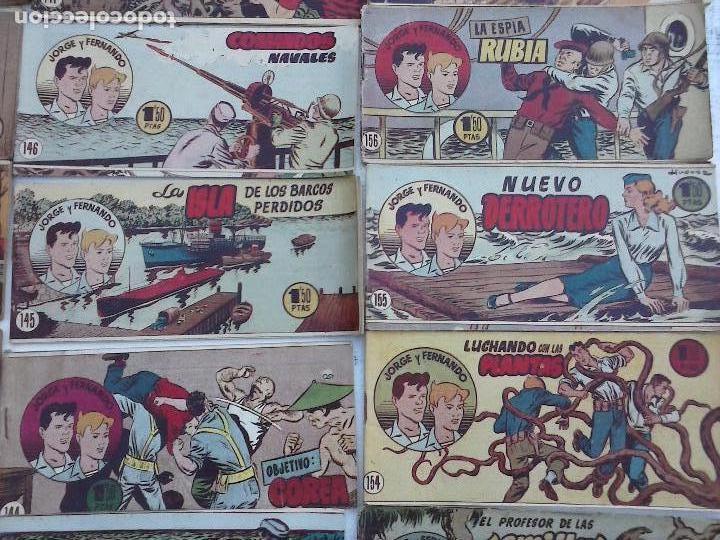 Tebeos: JORGE Y FERNANDO ORIGINAL 1949 - MUY BUEN ESTADO, 156 TEBEOS, VER IMAGENES - Foto 32 - 103987315