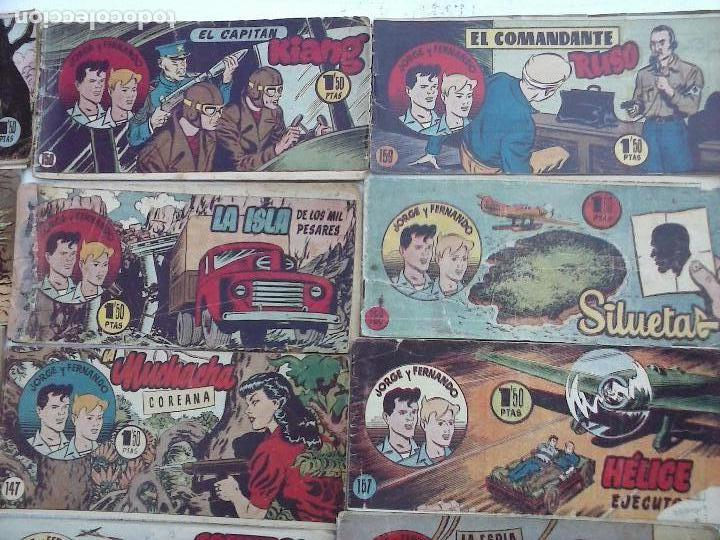 Tebeos: JORGE Y FERNANDO ORIGINAL 1949 - MUY BUEN ESTADO, 156 TEBEOS, VER IMAGENES - Foto 33 - 103987315
