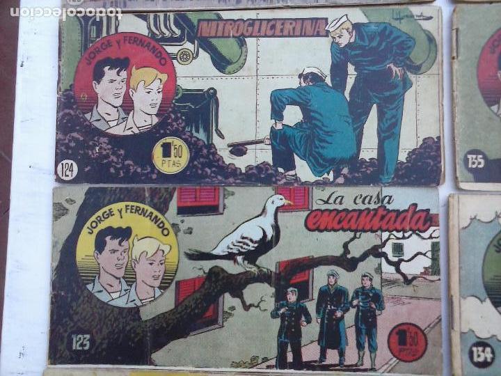 Tebeos: JORGE Y FERNANDO ORIGINAL 1949 - MUY BUEN ESTADO, 156 TEBEOS, VER IMAGENES - Foto 34 - 103987315