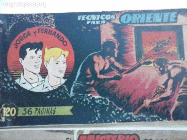 Tebeos: JORGE Y FERNANDO ORIGINAL 1949 - MUY BUEN ESTADO, 156 TEBEOS, VER IMAGENES - Foto 35 - 103987315