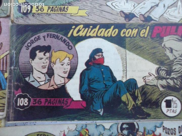 Tebeos: JORGE Y FERNANDO ORIGINAL 1949 - MUY BUEN ESTADO, 156 TEBEOS, VER IMAGENES - Foto 36 - 103987315