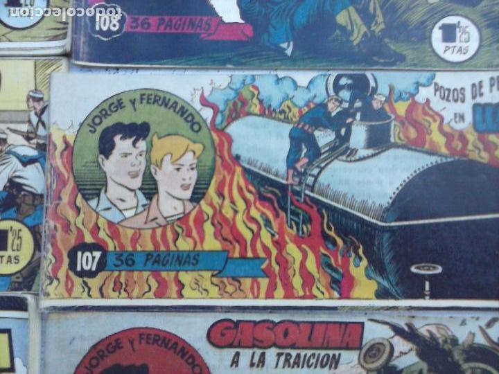 Tebeos: JORGE Y FERNANDO ORIGINAL 1949 - MUY BUEN ESTADO, 156 TEBEOS, VER IMAGENES - Foto 37 - 103987315