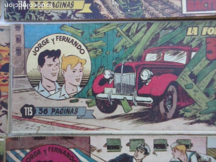 Tebeos: JORGE Y FERNANDO ORIGINAL 1949 - MUY BUEN ESTADO, 156 TEBEOS, VER IMAGENES - Foto 38 - 103987315