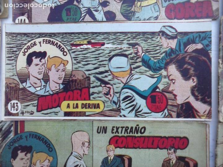 Tebeos: JORGE Y FERNANDO ORIGINAL 1949 - MUY BUEN ESTADO, 156 TEBEOS, VER IMAGENES - Foto 39 - 103987315