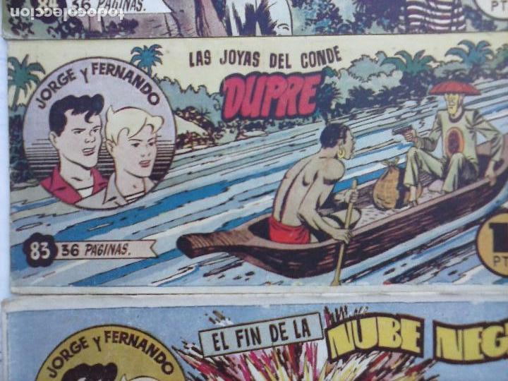 Tebeos: JORGE Y FERNANDO ORIGINAL 1949 - MUY BUEN ESTADO, 156 TEBEOS, VER IMAGENES - Foto 40 - 103987315