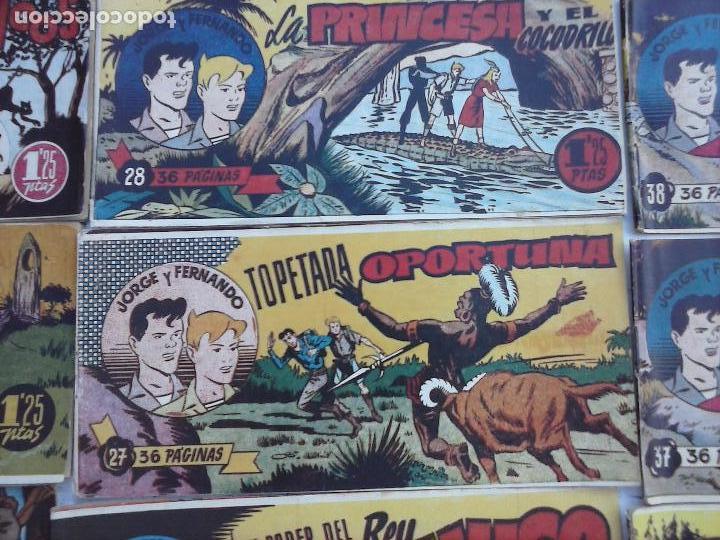 Tebeos: JORGE Y FERNANDO ORIGINAL 1949 - MUY BUEN ESTADO, 156 TEBEOS, VER IMAGENES - Foto 45 - 103987315