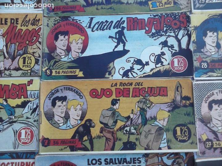 Tebeos: JORGE Y FERNANDO ORIGINAL 1949 - MUY BUEN ESTADO, 156 TEBEOS, VER IMAGENES - Foto 46 - 103987315