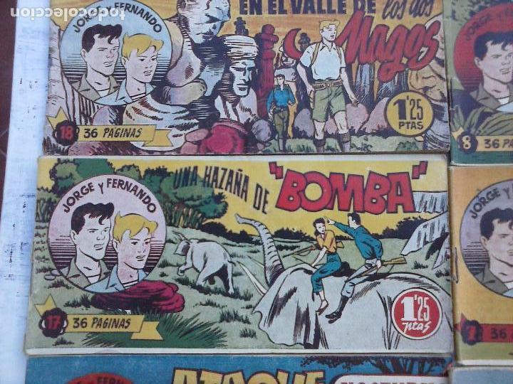 Tebeos: JORGE Y FERNANDO ORIGINAL 1949 - MUY BUEN ESTADO, 156 TEBEOS, VER IMAGENES - Foto 47 - 103987315