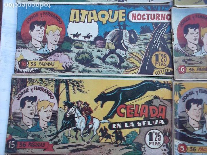 Tebeos: JORGE Y FERNANDO ORIGINAL 1949 - MUY BUEN ESTADO, 156 TEBEOS, VER IMAGENES - Foto 48 - 103987315