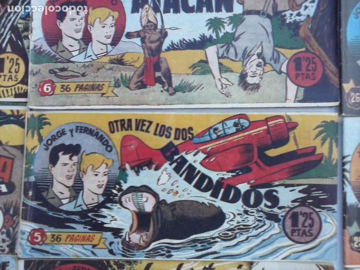 Tebeos: JORGE Y FERNANDO ORIGINAL 1949 - MUY BUEN ESTADO, 156 TEBEOS, VER IMAGENES - Foto 49 - 103987315