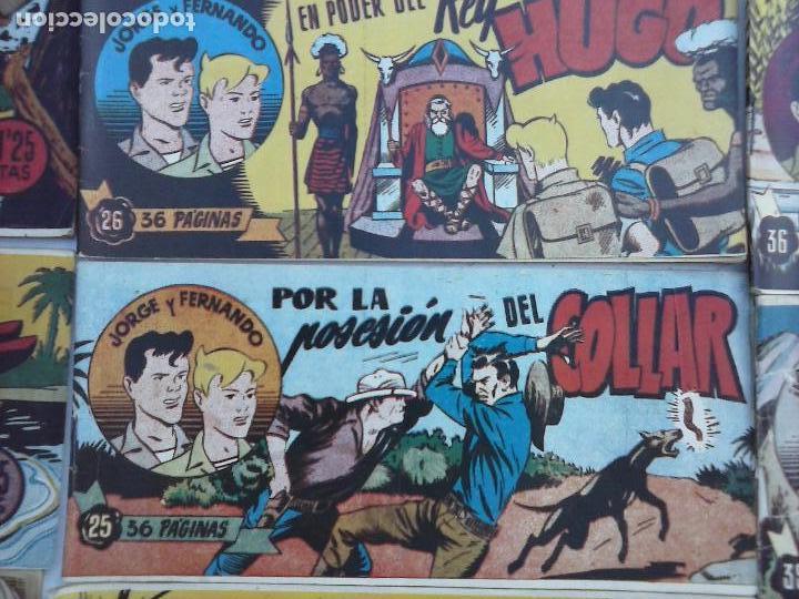 Tebeos: JORGE Y FERNANDO ORIGINAL 1949 - MUY BUEN ESTADO, 156 TEBEOS, VER IMAGENES - Foto 50 - 103987315