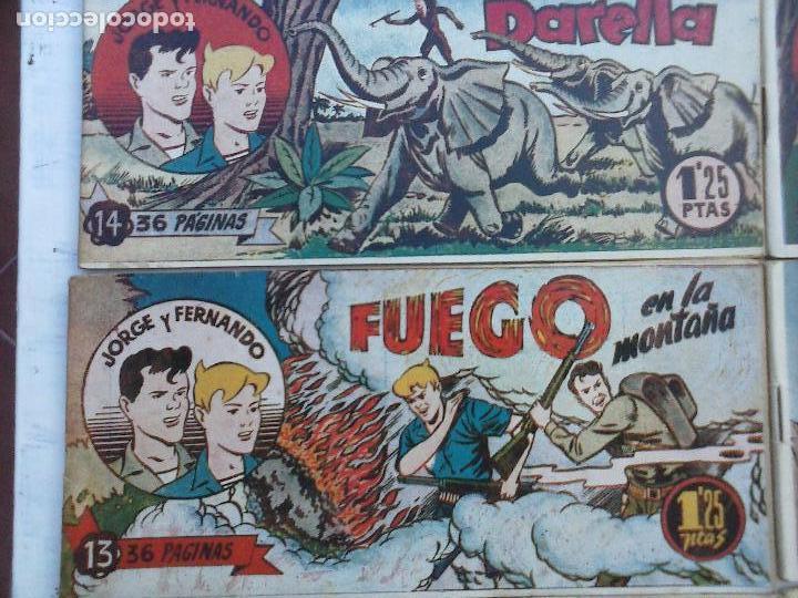 Tebeos: JORGE Y FERNANDO ORIGINAL 1949 - MUY BUEN ESTADO, 156 TEBEOS, VER IMAGENES - Foto 52 - 103987315