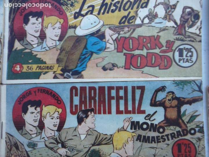 Tebeos: JORGE Y FERNANDO ORIGINAL 1949 - MUY BUEN ESTADO, 156 TEBEOS, VER IMAGENES - Foto 53 - 103987315