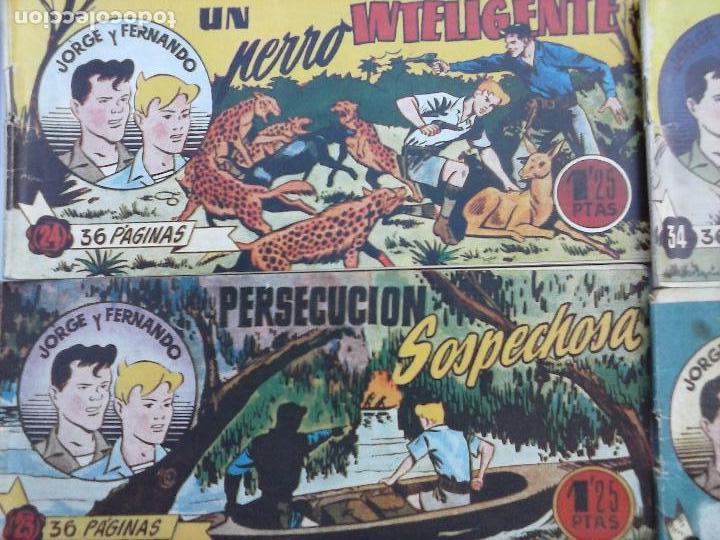 Tebeos: JORGE Y FERNANDO ORIGINAL 1949 - MUY BUEN ESTADO, 156 TEBEOS, VER IMAGENES - Foto 54 - 103987315