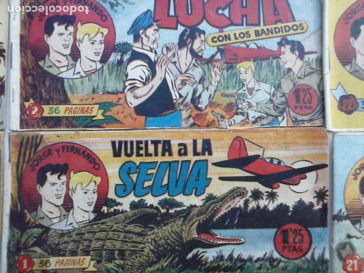 Tebeos: JORGE Y FERNANDO ORIGINAL 1949 - MUY BUEN ESTADO, 156 TEBEOS, VER IMAGENES - Foto 57 - 103987315