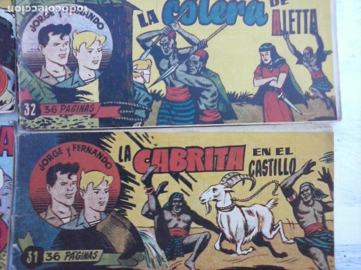 Tebeos: JORGE Y FERNANDO ORIGINAL 1949 - MUY BUEN ESTADO, 156 TEBEOS, VER IMAGENES - Foto 59 - 103987315