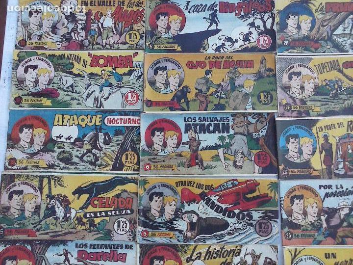 Tebeos: JORGE Y FERNANDO ORIGINAL 1949 - MUY BUEN ESTADO, 156 TEBEOS, VER IMAGENES - Foto 63 - 103987315