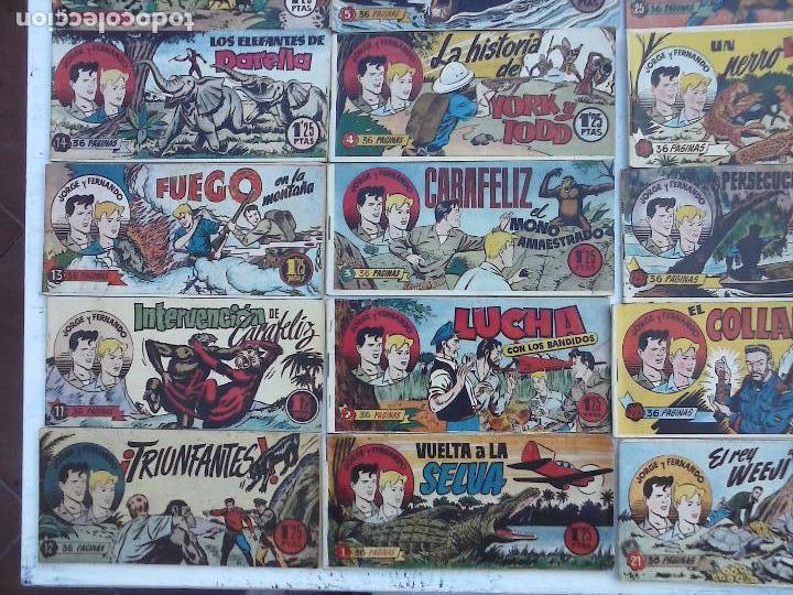 Tebeos: JORGE Y FERNANDO ORIGINAL 1949 - MUY BUEN ESTADO, 156 TEBEOS, VER IMAGENES - Foto 64 - 103987315