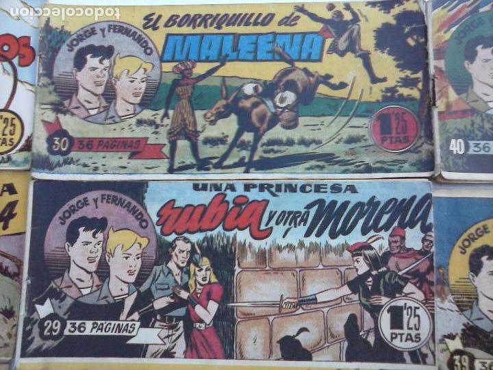 Tebeos: JORGE Y FERNANDO ORIGINAL 1949 - MUY BUEN ESTADO, 156 TEBEOS, VER IMAGENES - Foto 66 - 103987315