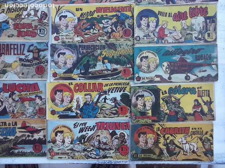 Tebeos: JORGE Y FERNANDO ORIGINAL 1949 - MUY BUEN ESTADO, 156 TEBEOS, VER IMAGENES - Foto 68 - 103987315