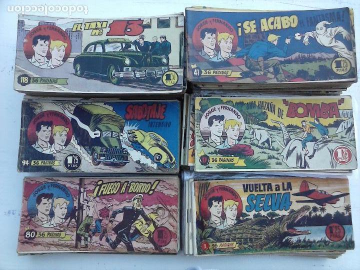 Tebeos: JORGE Y FERNANDO ORIGINAL 1949 - MUY BUEN ESTADO, 156 TEBEOS, VER IMAGENES - Foto 69 - 103987315