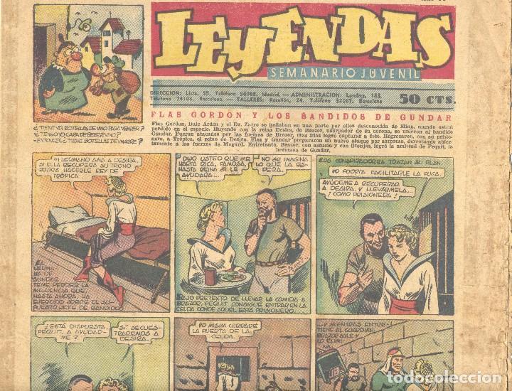 LEYENDAS Nº156. FLASH GORDON, TARZÁN, DICK NORTON, INSPECTOR WADE, GUARDIA MÓVIL, ALEX RAYMOND... (Tebeos y Comics - Hispano Americana - Leyendas Infantiles)