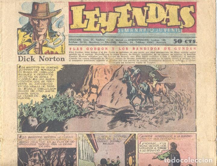 LEYENDAS Nº151. FLASH GORDON, TARZÁN, DICK NORTON, INSPECTOR WADE, X-9, GUARDIA MÓVIL... (Tebeos y Comics - Hispano Americana - Leyendas Infantiles)