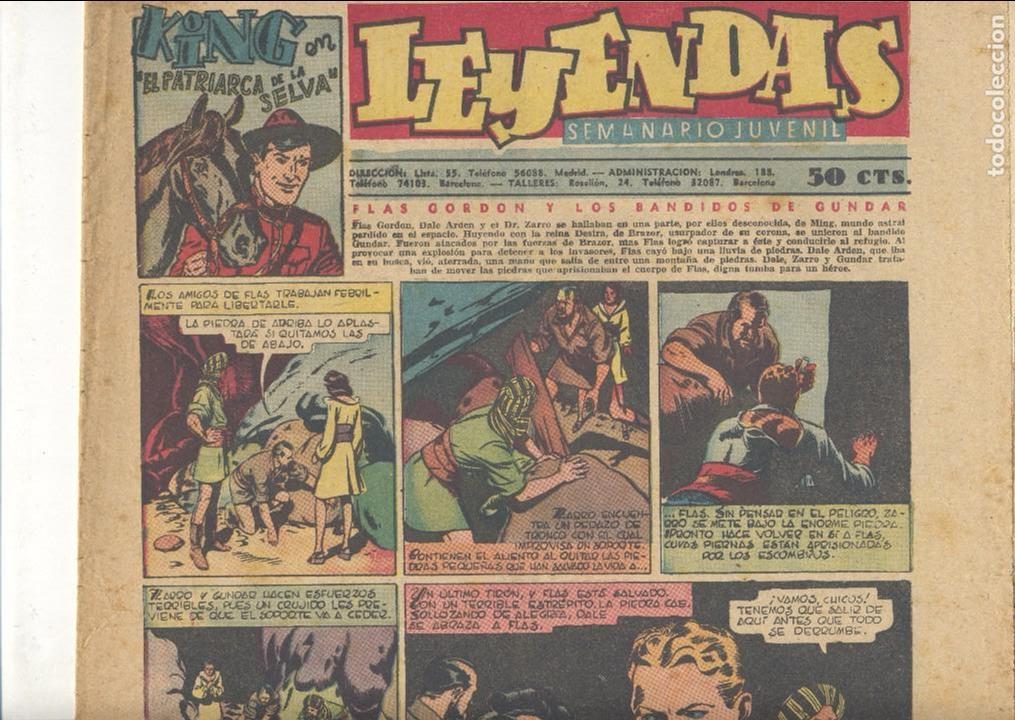 LEYENDAS Nº149. FLASH GORDON, TARZÁN, DICK NORTON, INSPECTOR WADE, GUARDIA MÓVIL, ALEX RAYMOND... (Tebeos y Comics - Hispano Americana - Leyendas Infantiles)