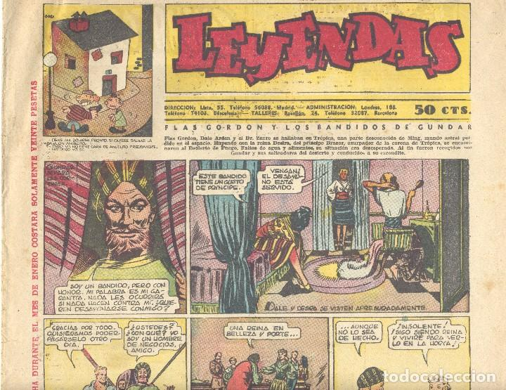 LEYENDAS 138. KING DE LA POLICÍA MONTADA, X-9, FLASH GORDON, TARZÁN, GUARDIA MÓVIL, INSPECTOR WADE.. (Tebeos y Comics - Hispano Americana - Leyendas Infantiles)