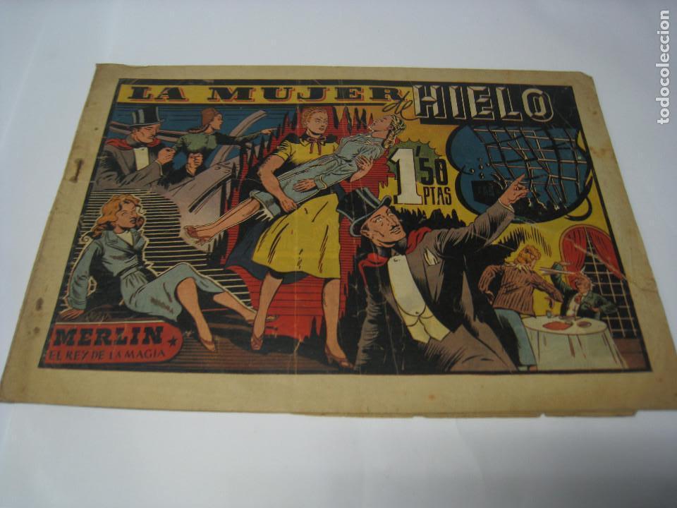 LA MUJER DE HIELO, CON MERLÍN EL REY DE LA MAGIA. BARCELONA, HISPANO AMERICANA (Tebeos y Comics - Hispano Americana - Merlín)
