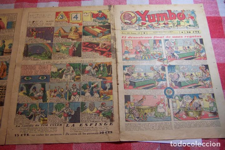 Tebeos: hispano americana-- yumbo años 30 nº 80-81-82-83-84-85-86-97-88-89 - Foto 7 - 106214423