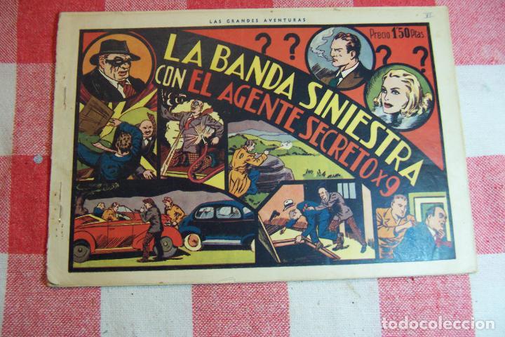 HISPANO AMERICANA. LOTE AGENTE SECRETO X-9 FORMATO GRANDE LOS 14 QUE SON (Tebeos y Comics - Hispano Americana - Otros)