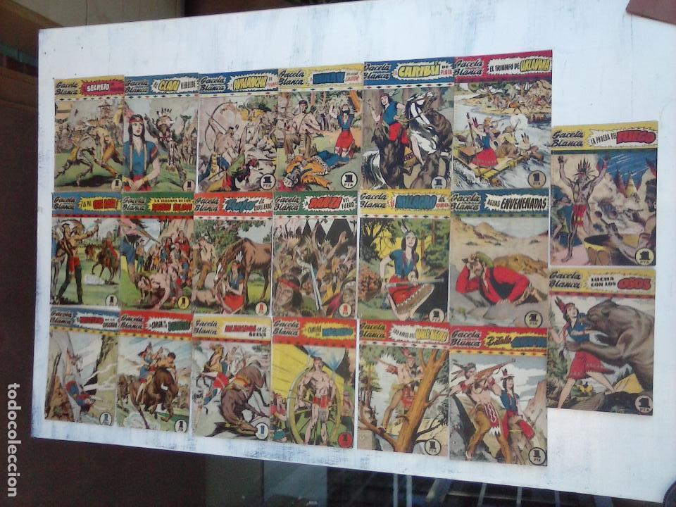 GACELA BLANCA ORIGINAL 1949 - LOTE NºS - 2,3,5,6,7,8,9,10,11,12,13,14,15,16,17,18,19,20,21 (Tebeos y Comics - Hispano Americana - Otros)