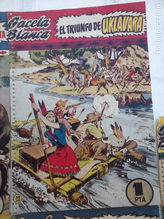 Tebeos: GACELA BLANCA ORIGINAL 1949 - LOTE NºS - 2,3,5,6,7,8,9,10,11,12,13,14,15,16,17,18,19,20,21 - Foto 3 - 107829823
